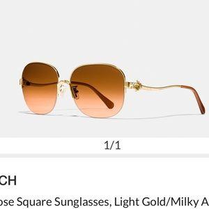 COACH tea rose aviator style sunglasses